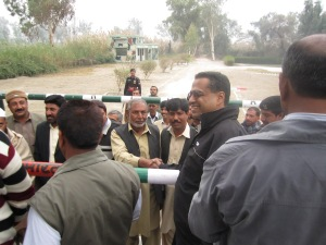 Sadiqi border ceremony where people from both sides can meet each other